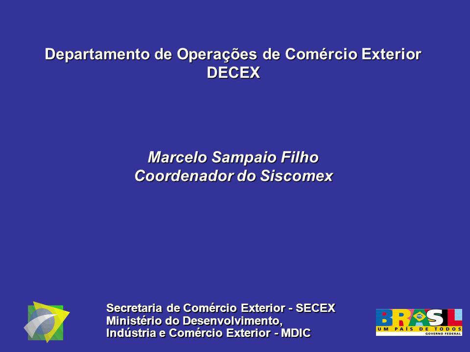 Departamento de Operações de Comércio Exterior DECEX