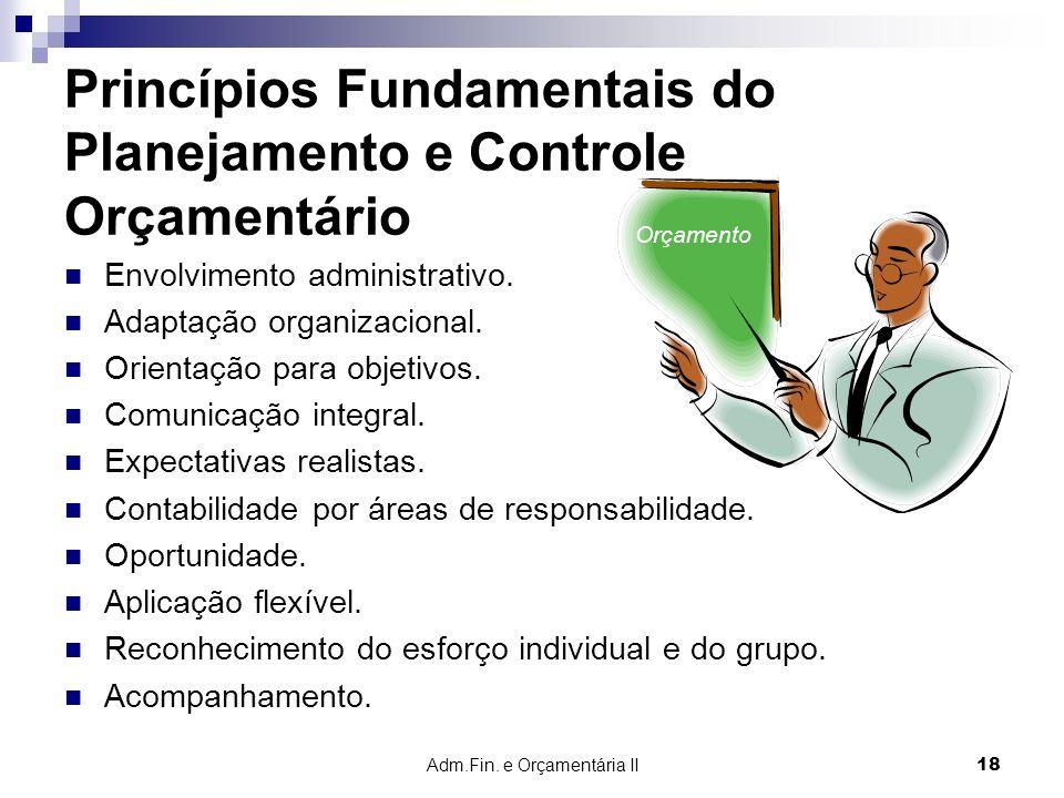 Princípios Fundamentais do Planejamento e Controle Orçamentário