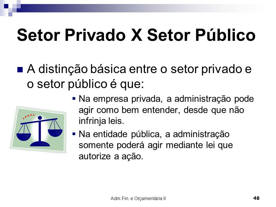 Setor Privado X Setor Público