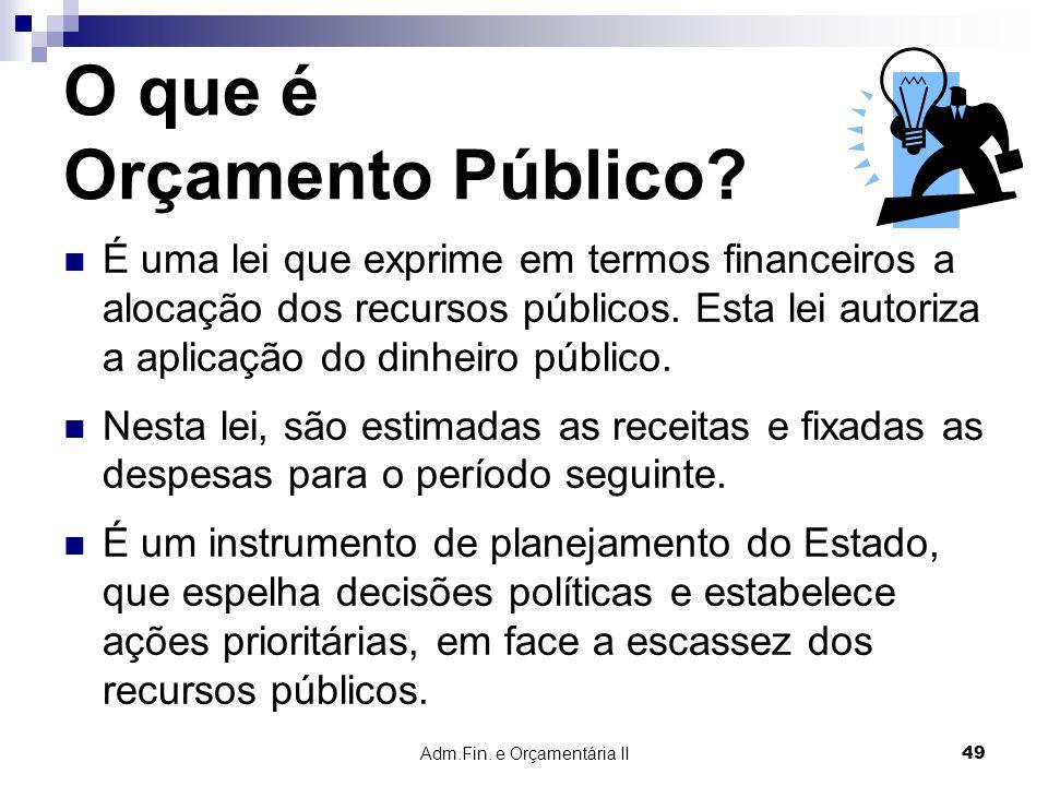 O que é Orçamento Público