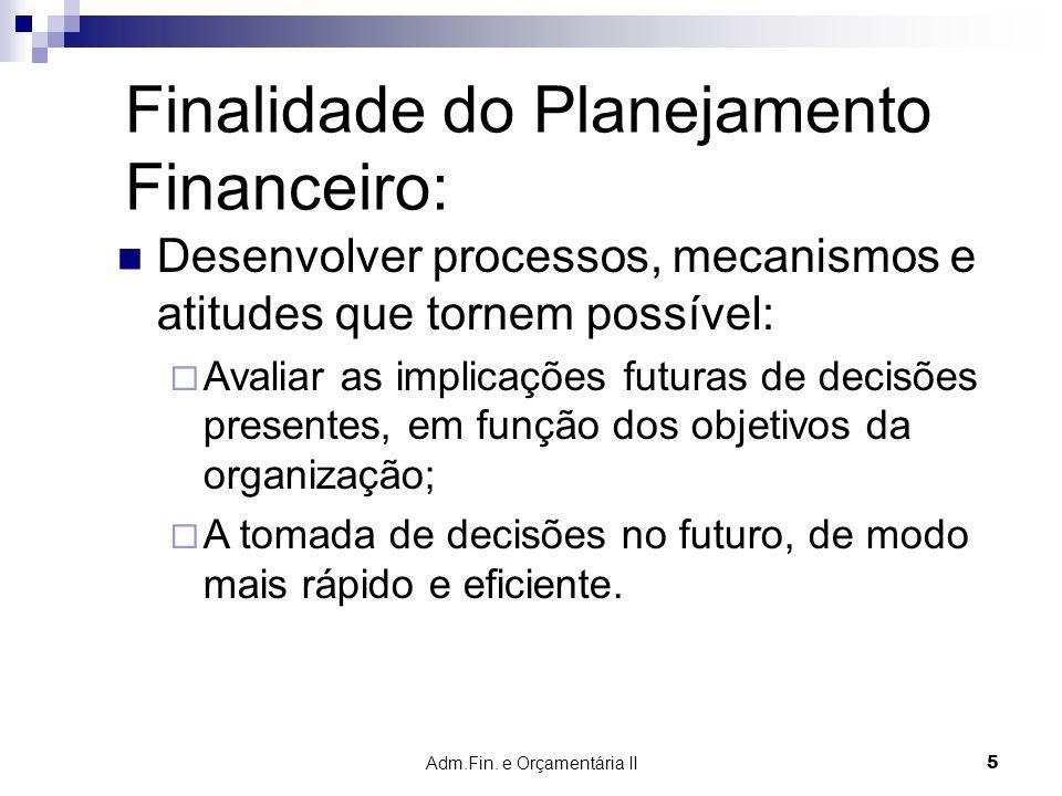 Adm.Fin. e Orçamentária II