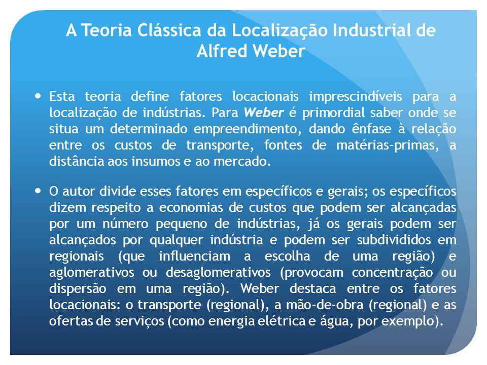 A Teoria Clássica da Localização Industrial de Alfred Weber
