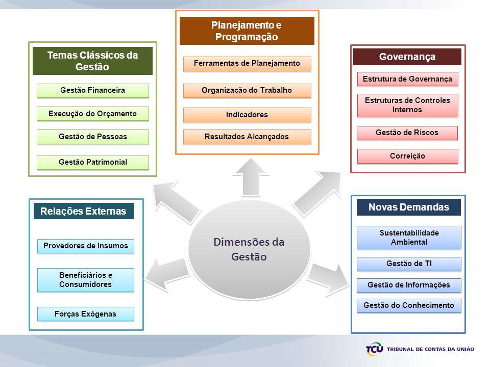 Dimensões da Gestão Planejamento e Programação