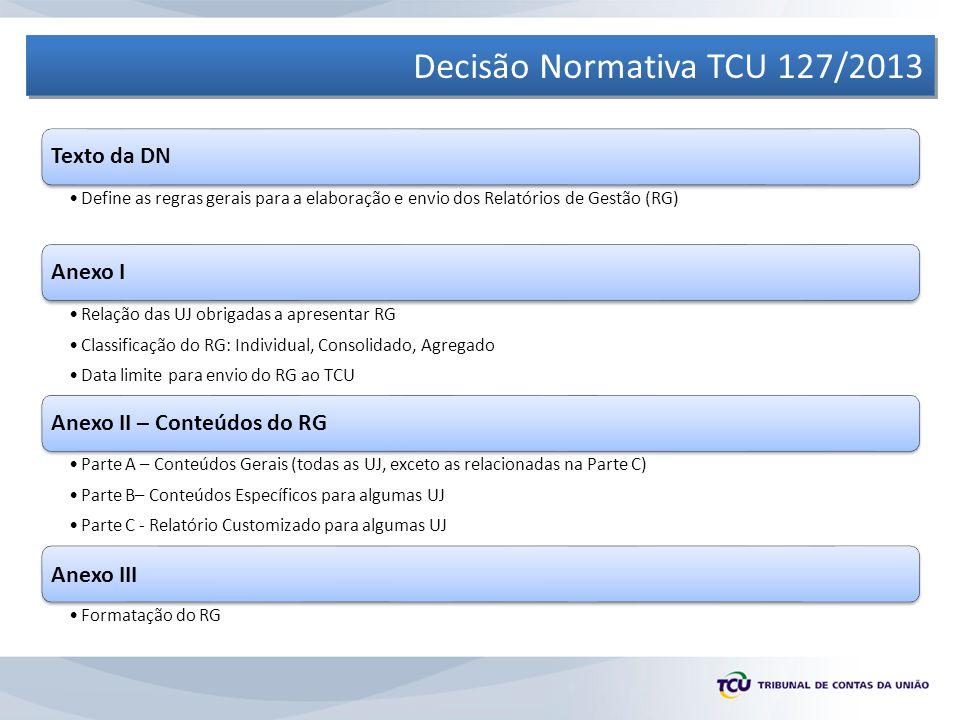 Decisão Normativa TCU 127/2013