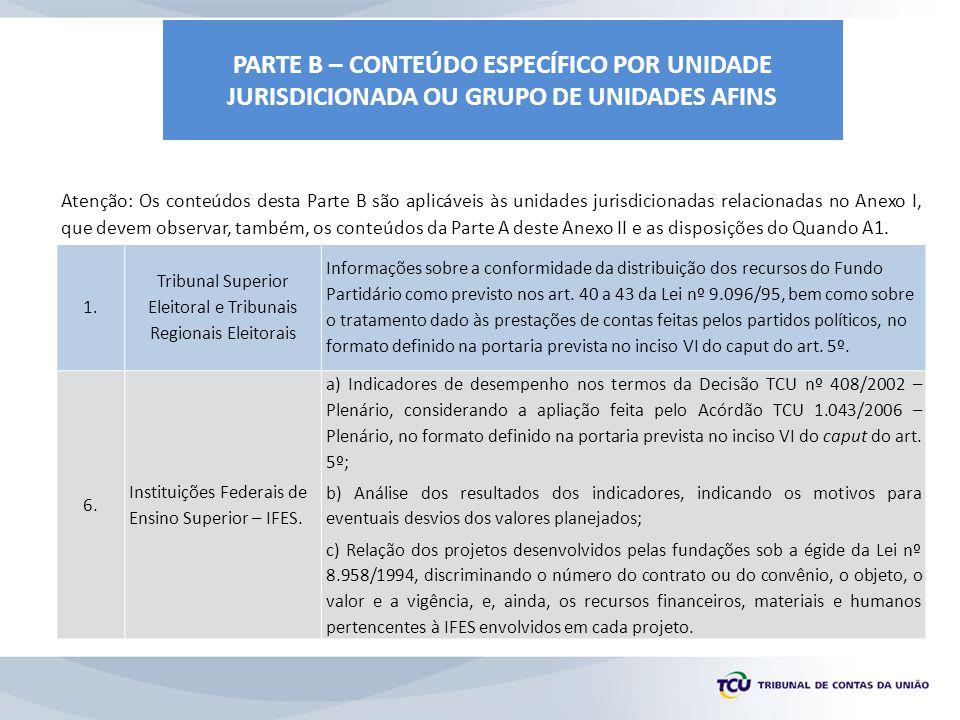 Tribunal Superior Eleitoral e Tribunais Regionais Eleitorais