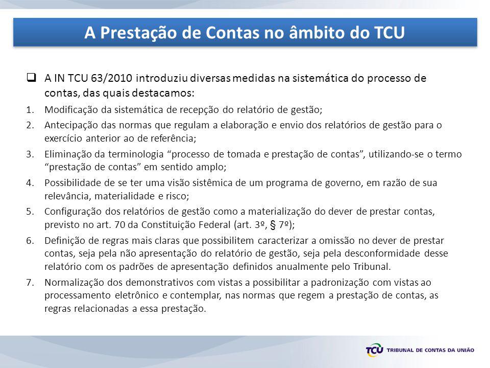 A Prestação de Contas no âmbito do TCU