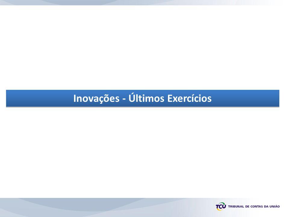 Inovações - Últimos Exercícios