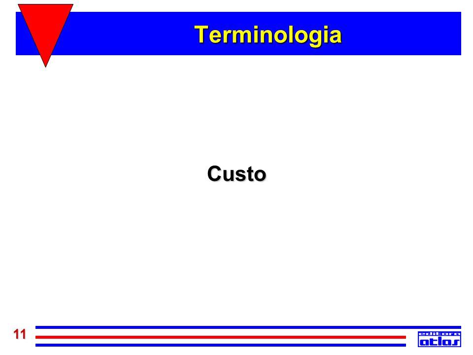 Terminologia Custo