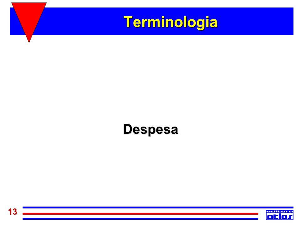 Terminologia Despesa