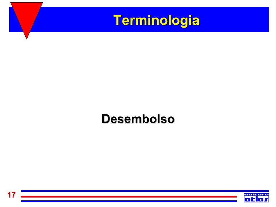 Terminologia Desembolso