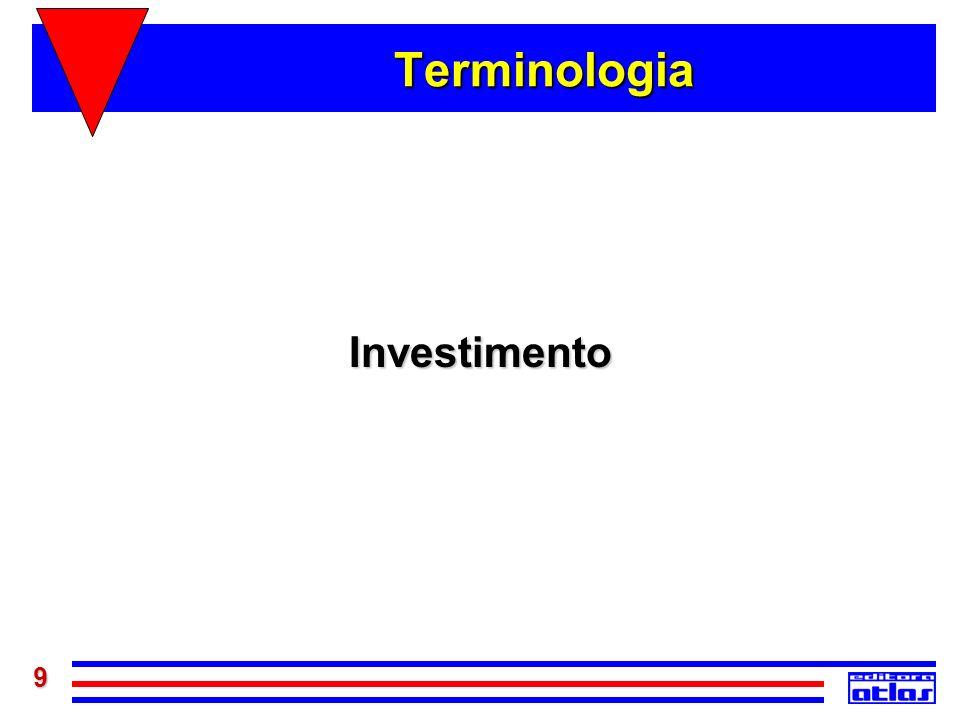 Terminologia Investimento