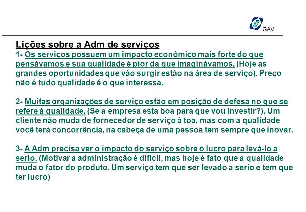 Lições sobre a Adm de serviços