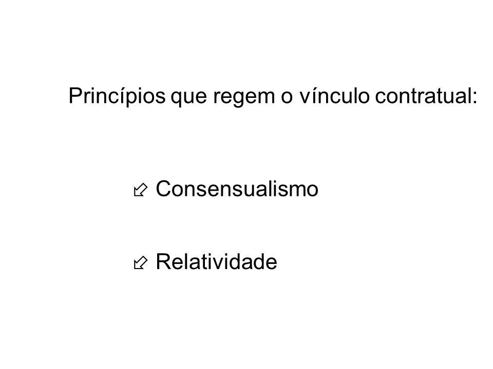 Princípios que regem o vínculo contratual: