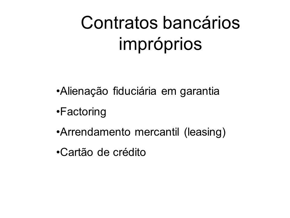 Contratos bancários impróprios
