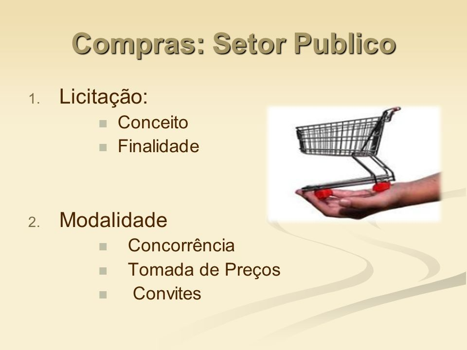 Compras: Setor Publico