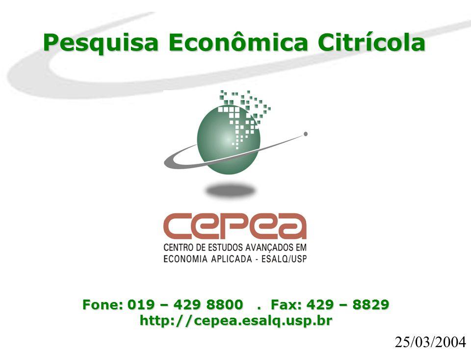 Pesquisa Econômica Citrícola
