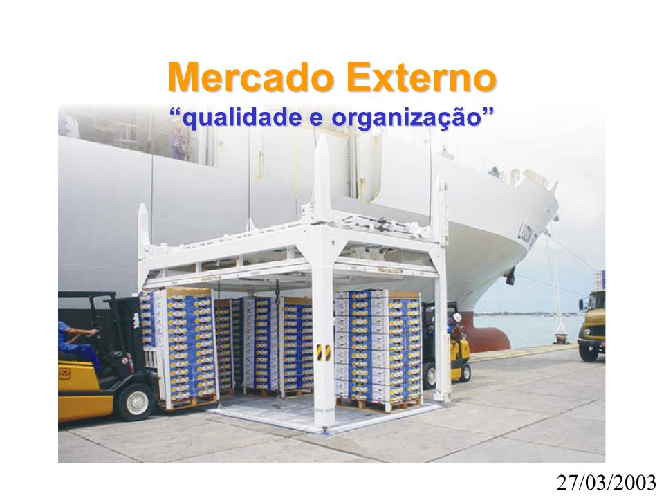 Mercado Externo qualidade e organização