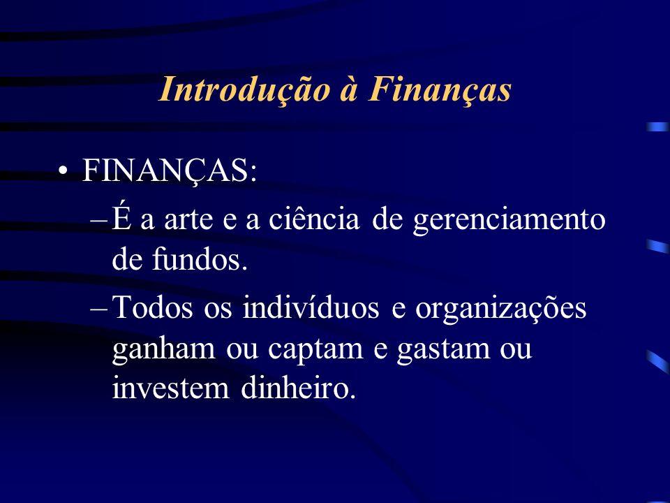 Introdução à Finanças FINANÇAS: