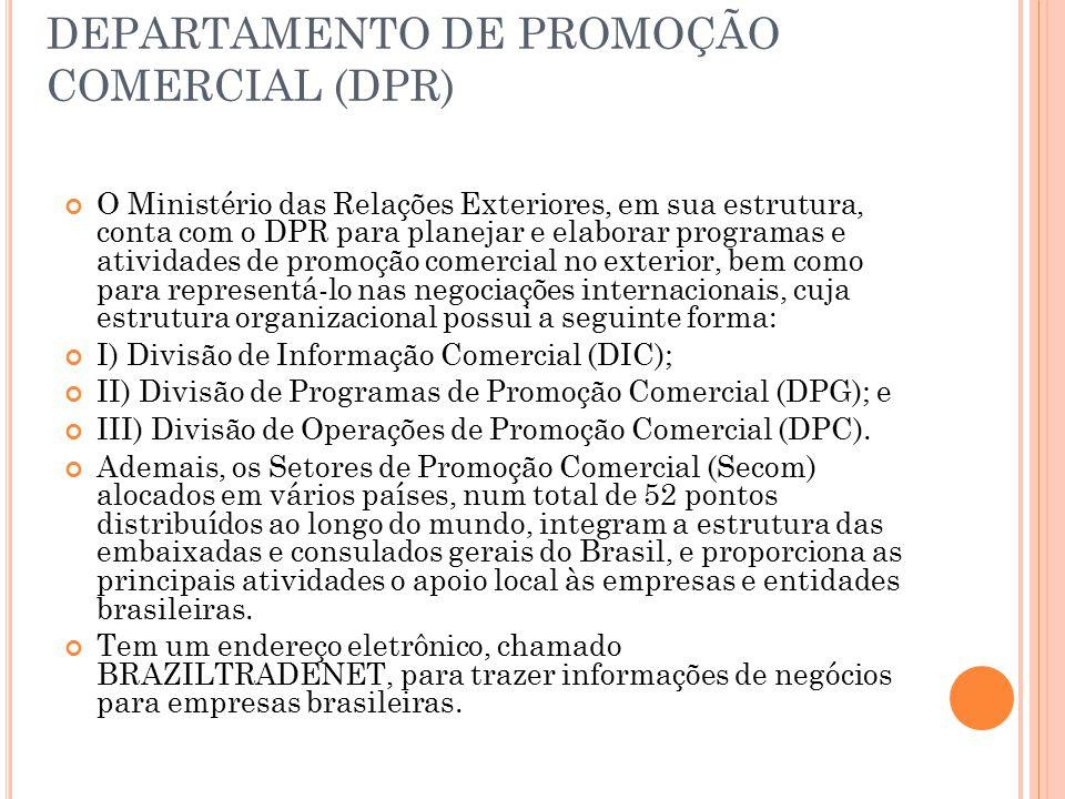 DEPARTAMENTO DE PROMOÇÃO COMERCIAL (DPR)