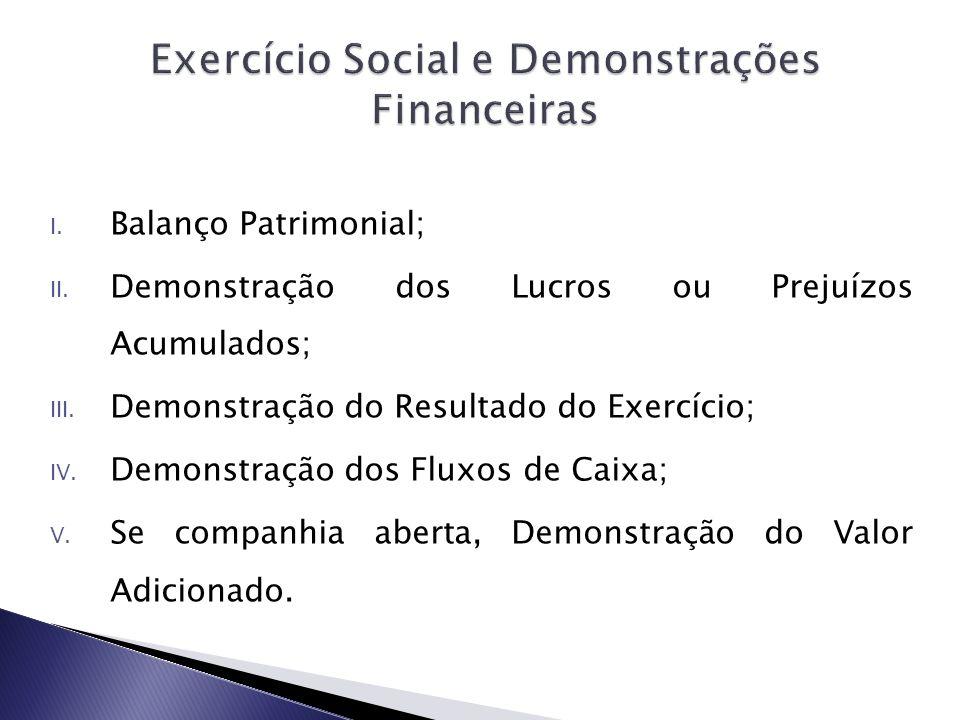 Exercício Social e Demonstrações Financeiras