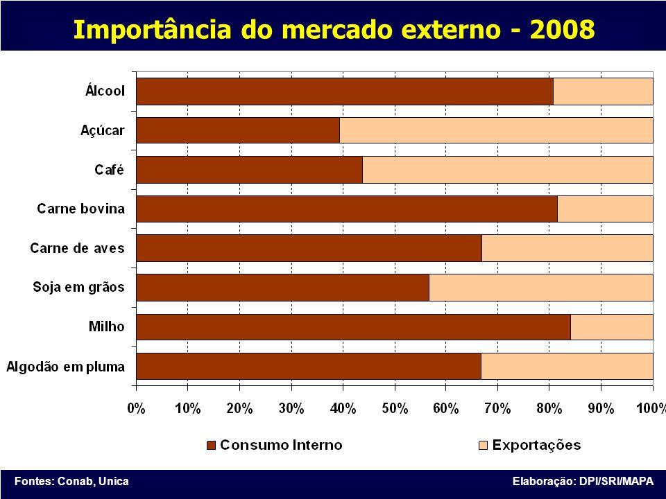 Importância do mercado externo - 2008