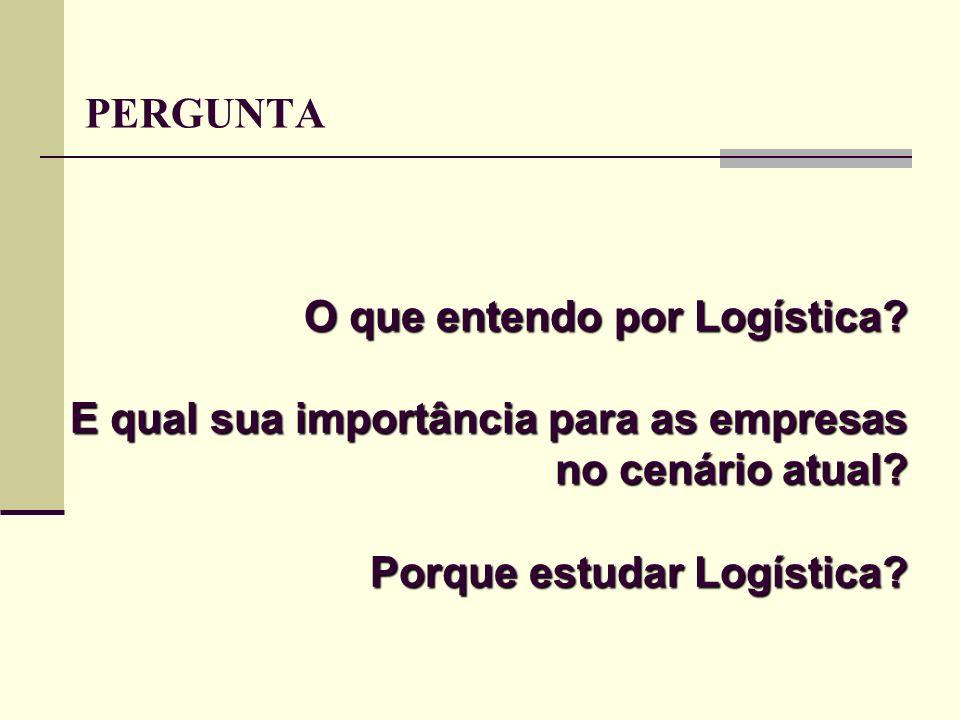 PERGUNTA O que entendo por Logística. E qual sua importância para as empresas no cenário atual.