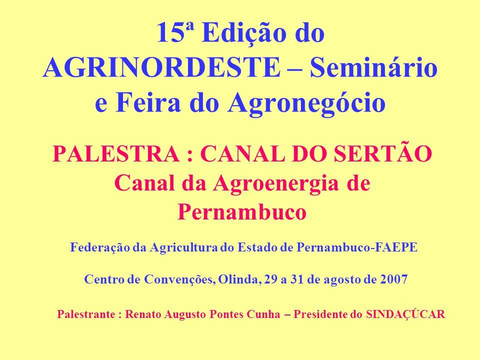 15ª Edição do AGRINORDESTE – Seminário e Feira do Agronegócio