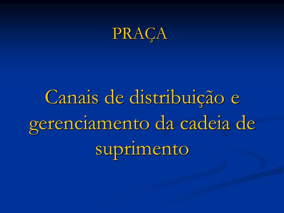 Canais de distribuição e gerenciamento da cadeia de suprimento