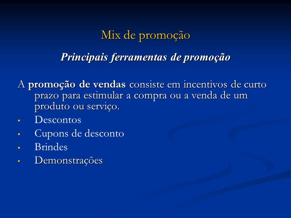 Principais ferramentas de promoção