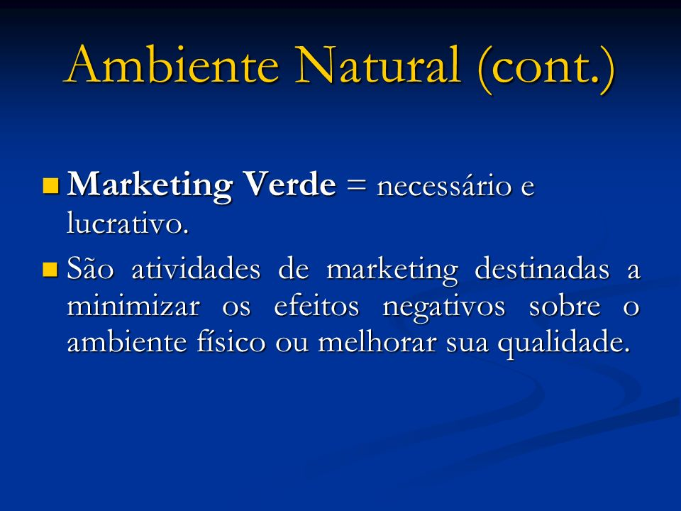 Ambiente Natural (cont.)