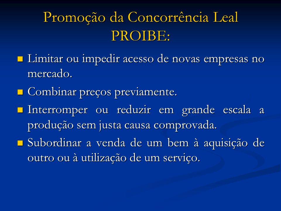 Promoção da Concorrência Leal PROIBE: