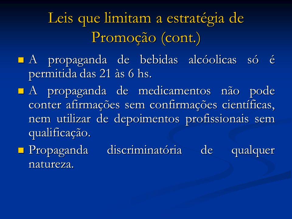 Leis que limitam a estratégia de Promoção (cont.)