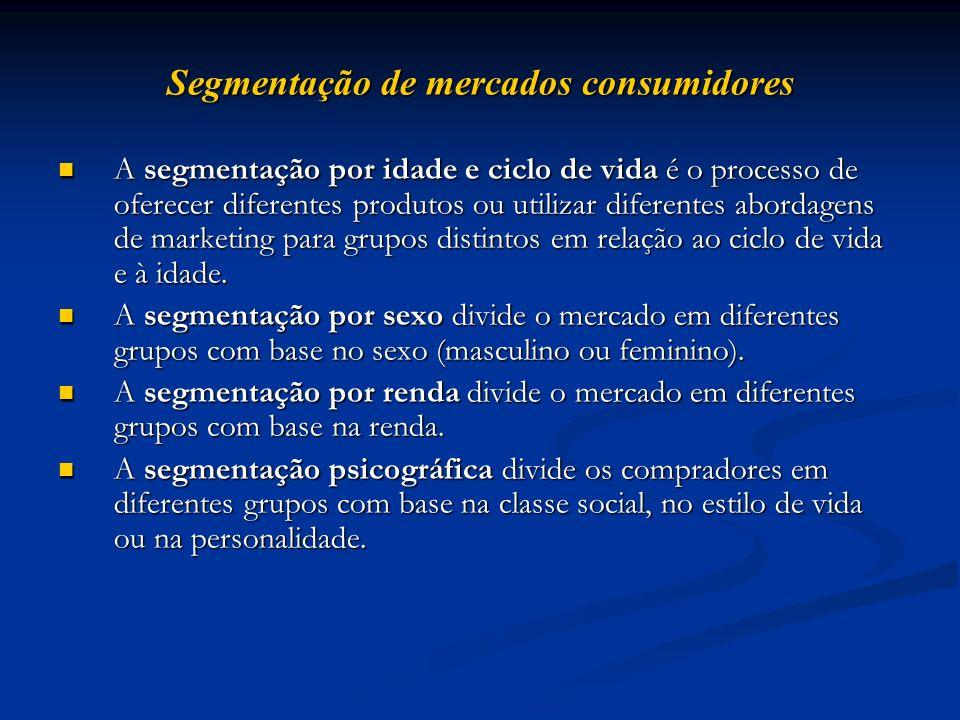 Segmentação de mercados consumidores