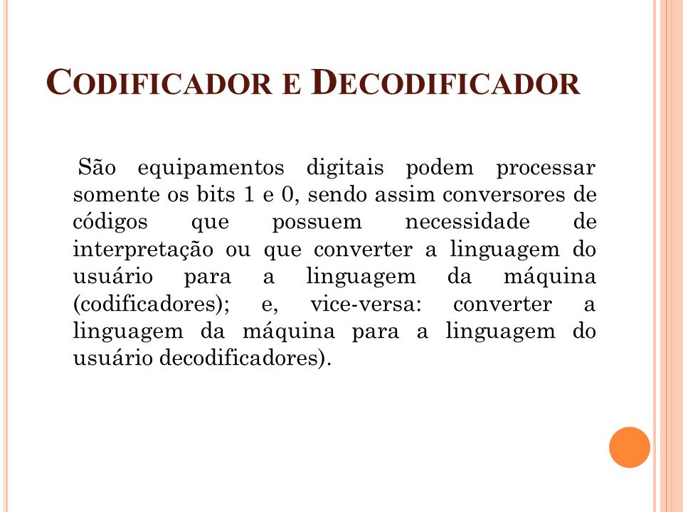 Codificador e Decodificador