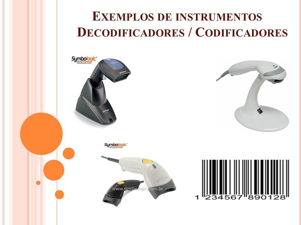 Exemplos de instrumentos Decodificadores / Codificadores