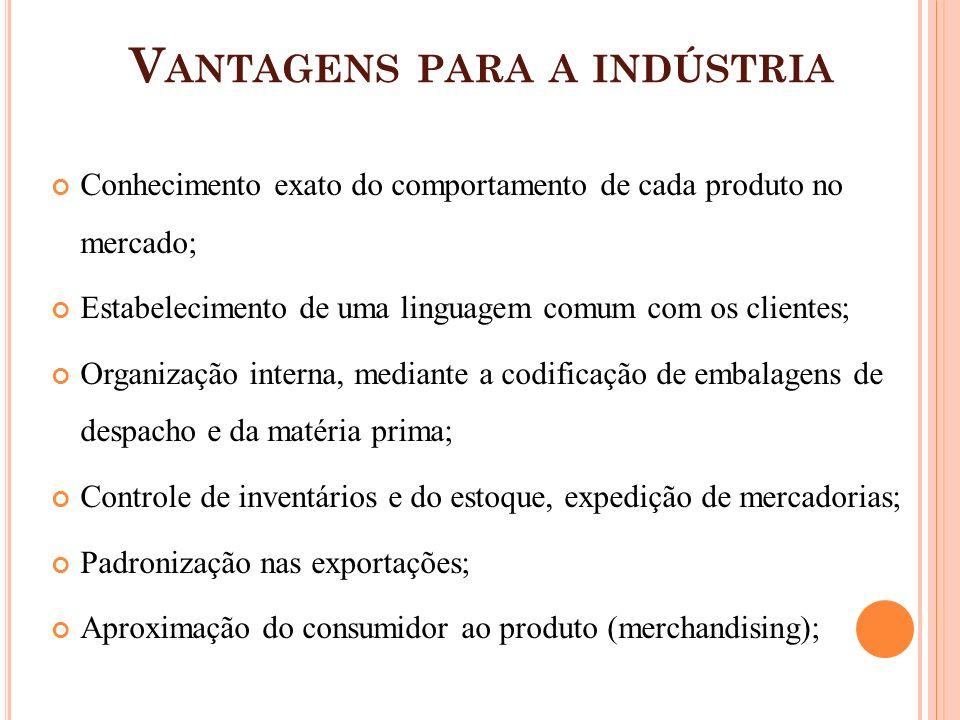 Vantagens para a indústria