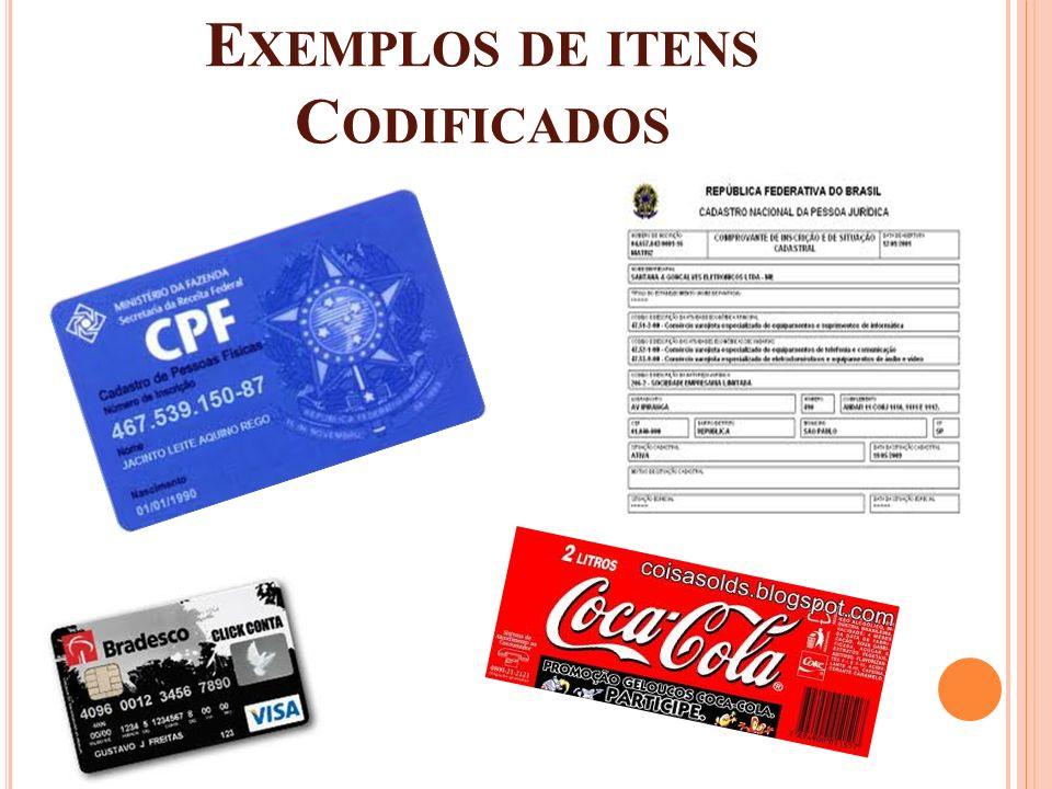 Exemplos de itens Codificados