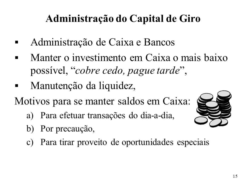Administração do Capital de Giro
