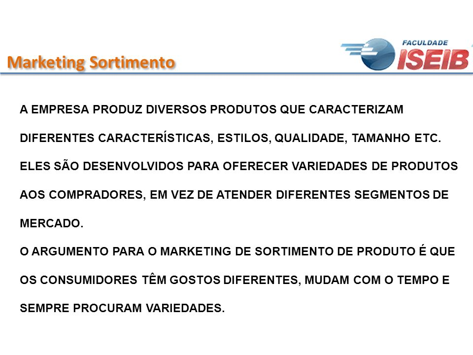 Marketing Sortimento