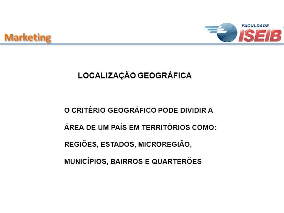 Marketing LOCALIZAÇÃO GEOGRÁFICA