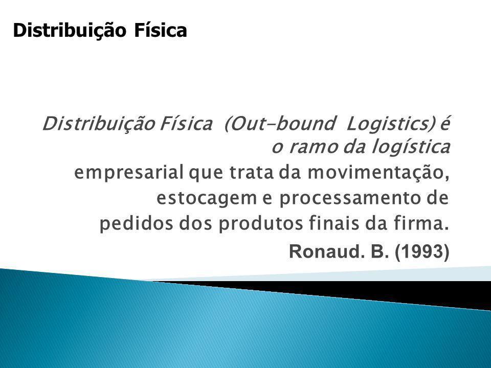 Distribuição Física Distribuição Física (Out-bound Logistics) é o ramo da logística. empresarial que trata da movimentação,