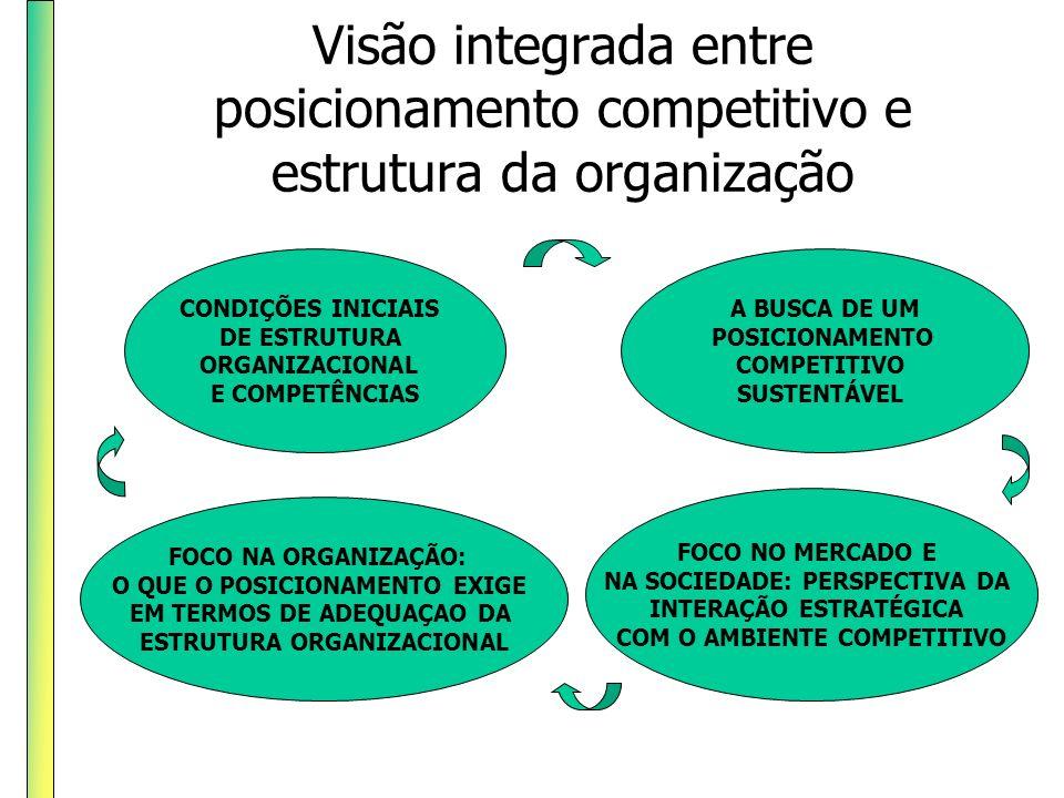 Visão integrada entre posicionamento competitivo e estrutura da organização