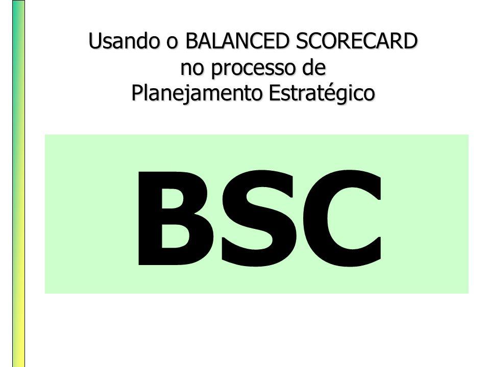 BSC Usando o BALANCED SCORECARD