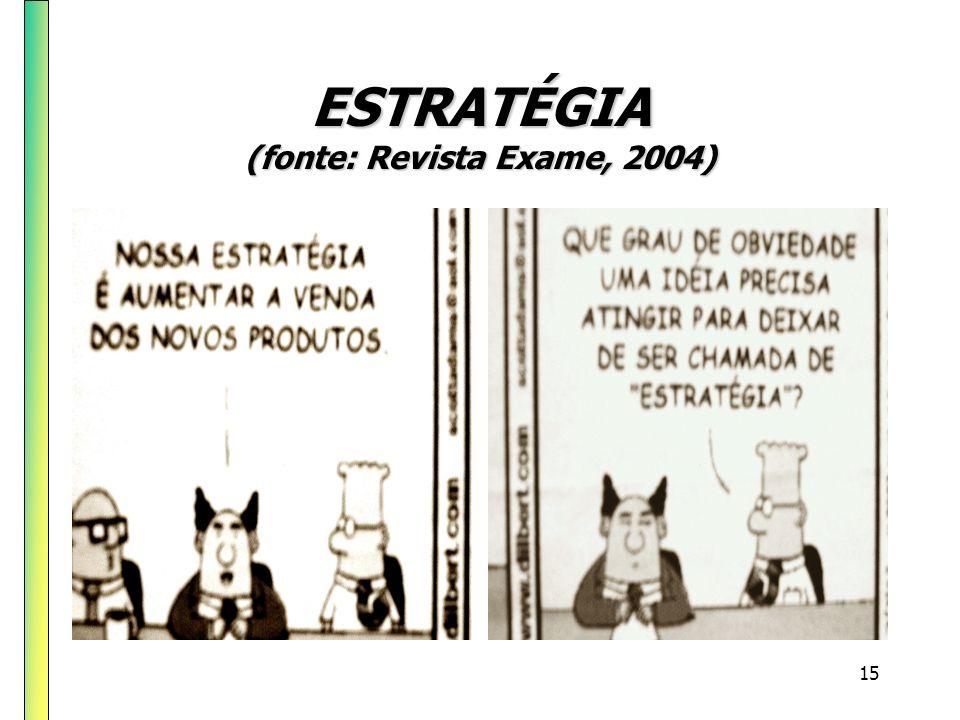 ESTRATÉGIA (fonte: Revista Exame, 2004)