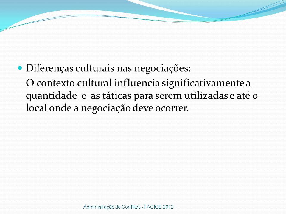 Diferenças culturais nas negociações: