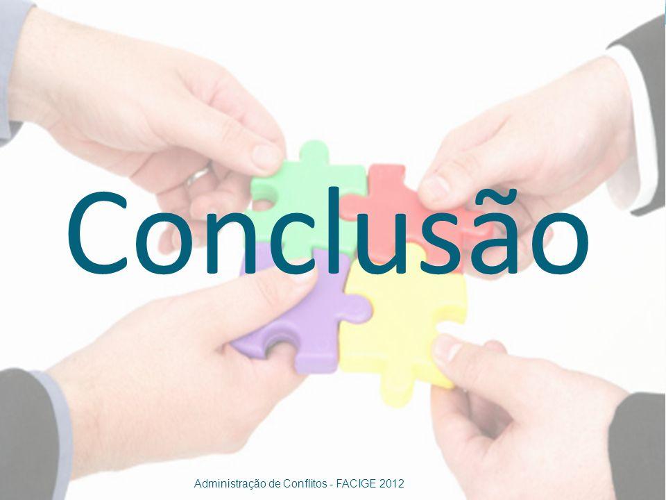Conclusão Administração de Conflitos - FACIGE 2012