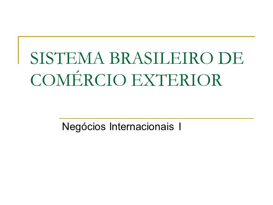 SISTEMA BRASILEIRO DE COMÉRCIO EXTERIOR