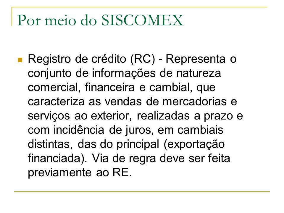 Por meio do SISCOMEX