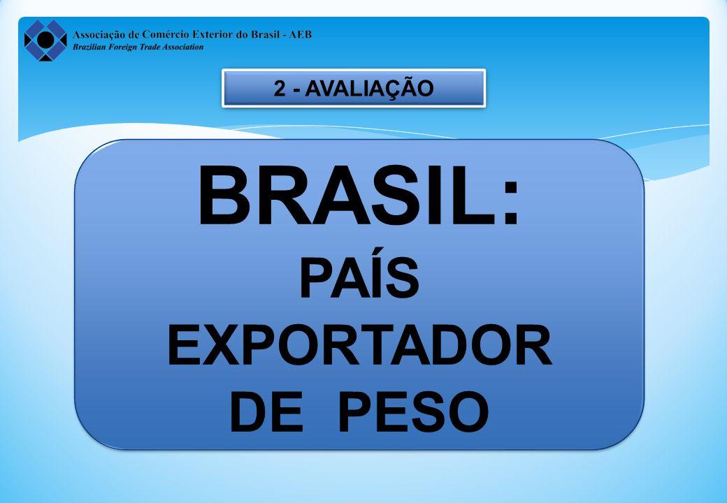 2 - AVALIAÇÃO BRASIL: PAÍS EXPORTADOR DE PESO
