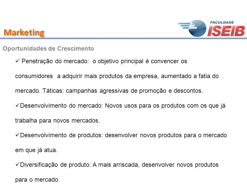 Marketing Oportunidades de Crescimento